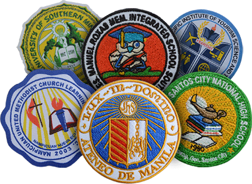 School Woven and Embroidered Patches