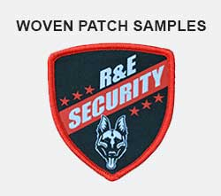 woven patch samples