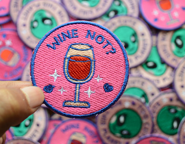 Wine Embroidered Patch Image