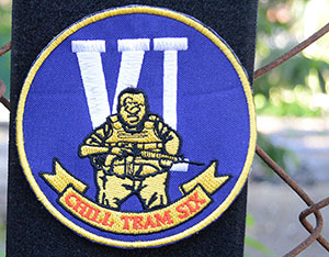 Chill Team Six velcro patch