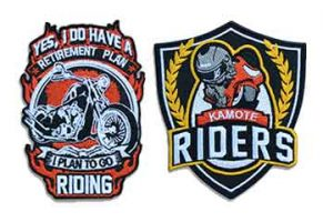 Biker embroidered patches in the Philippines