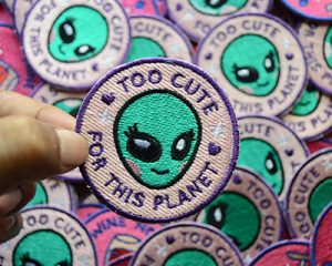 Too Cute Embroidered Patches image