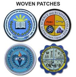 School Woven Patches Samples