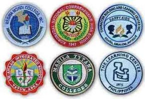 School embroidered patch samples in the Philippines